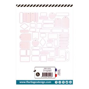 Etiquettes N°14 ROSE PÊCHE