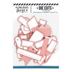 Etiquettes ROSE CORAIL par Florilèges Design. Scrapbooking et loisirs créatifs. Livraison rapide et cadeau dans chaque commande.