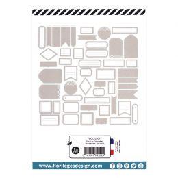 Etiquettes BEIGE ANGORA par Florilèges Design. Scrapbooking et loisirs créatifs. Livraison rapide et cadeau dans chaque comma...