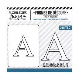 Outil de découpe LETTRE A par Florilèges Design. Scrapbooking et loisirs créatifs. Livraison rapide et cadeau dans chaque com...