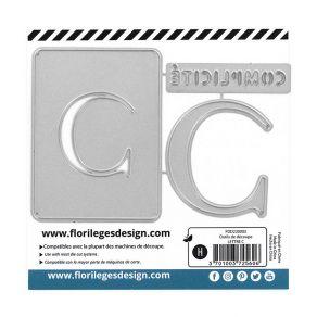 Outil de découpe LETTRE C par Florilèges Design. Scrapbooking et loisirs créatifs. Livraison rapide et cadeau dans chaque com...