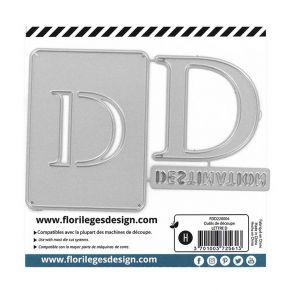Outil de découpe LETTRE D par Florilèges Design. Scrapbooking et loisirs créatifs. Livraison rapide et cadeau dans chaque com...