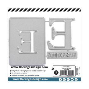 Outil de découpe LETTRE E par Florilèges Design. Scrapbooking et loisirs créatifs. Livraison rapide et cadeau dans chaque com...