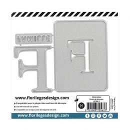 Outil de découpe LETTRE F par Florilèges Design. Scrapbooking et loisirs créatifs. Livraison rapide et cadeau dans chaque com...