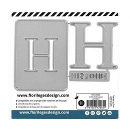 Outil de découpe LETTRE H par Florilèges Design. Scrapbooking et loisirs créatifs. Livraison rapide et cadeau dans chaque com...