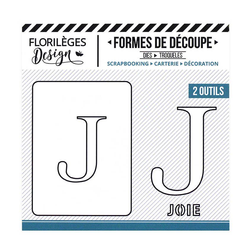 Outil de découpe LETTRE J par Florilèges Design. Scrapbooking et loisirs créatifs. Livraison rapide et cadeau dans chaque com...