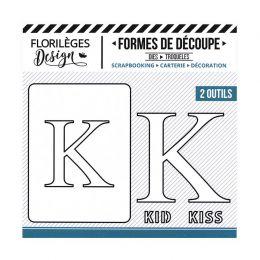 Outil de découpe LETTRE K par Florilèges Design. Scrapbooking et loisirs créatifs. Livraison rapide et cadeau dans chaque com...