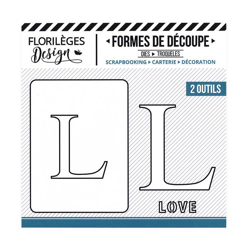 Outil de découpe LETTRE L par Florilèges Design. Scrapbooking et loisirs créatifs. Livraison rapide et cadeau dans chaque com...