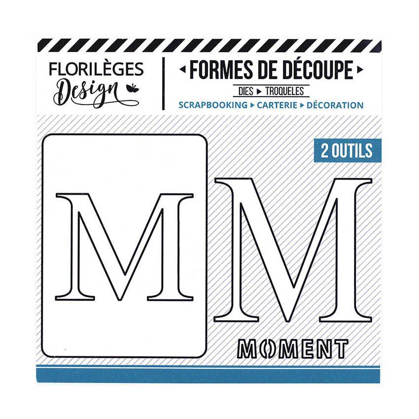 Outil de découpe LETTRE M par Florilèges Design. Scrapbooking et loisirs créatifs. Livraison rapide et cadeau dans chaque com...