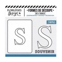Outil de découpe LETTRE S par Florilèges Design. Scrapbooking et loisirs créatifs. Livraison rapide et cadeau dans chaque com...
