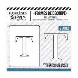Outil de découpe LETTRE T par Florilèges Design. Scrapbooking et loisirs créatifs. Livraison rapide et cadeau dans chaque com...