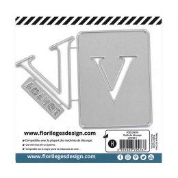 Outil de découpe LETTRE V par Florilèges Design. Scrapbooking et loisirs créatifs. Livraison rapide et cadeau dans chaque com...