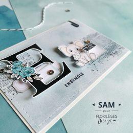 Tampon clear LETTRE E par Florilèges Design. Scrapbooking et loisirs créatifs. Livraison rapide et cadeau dans chaque commande.