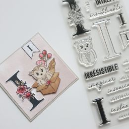 Tampon clear LETTRE I par Florilèges Design. Scrapbooking et loisirs créatifs. Livraison rapide et cadeau dans chaque commande.