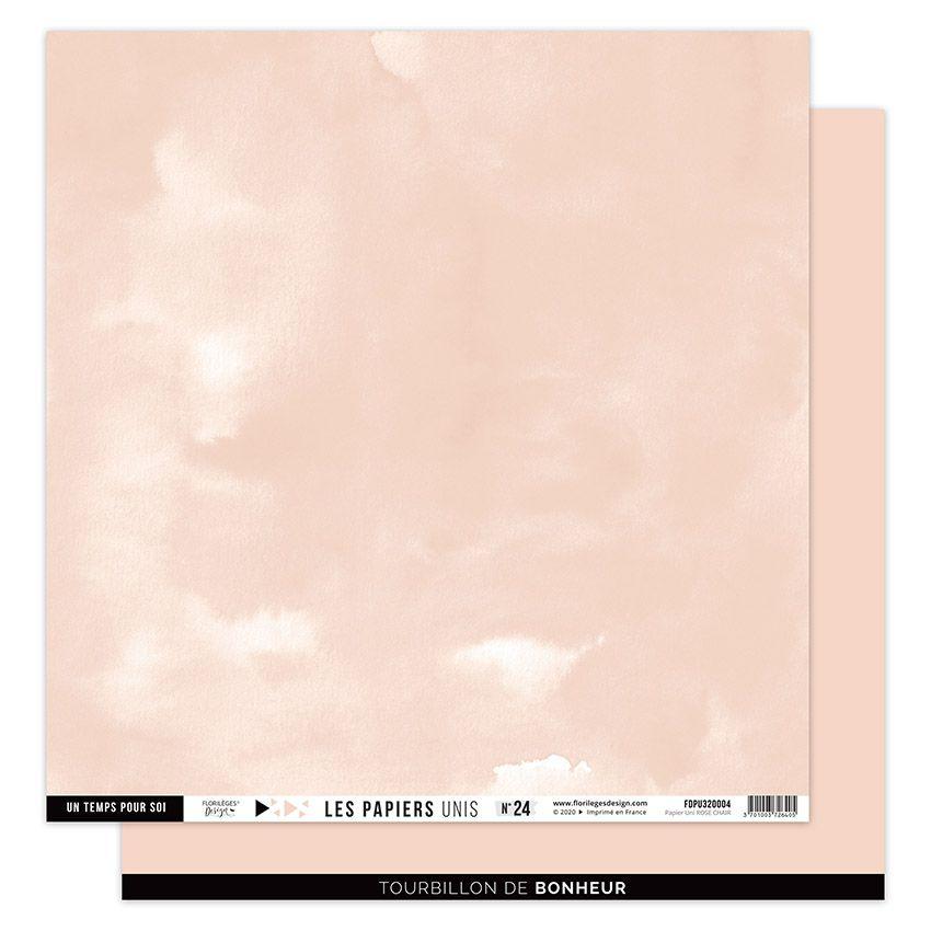 Papier Uni N°24 ROSE CHAIR