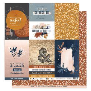 Papier imprimé OR SAISON 8 par Florilèges Design. Scrapbooking et loisirs créatifs. Livraison rapide et cadeau dans chaque co...