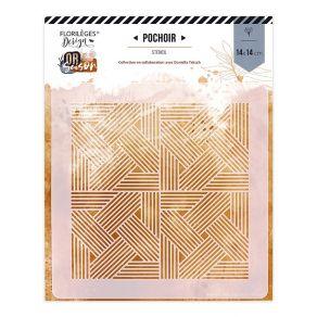 Pochoir TRESSAGE GRAPHIQUE par Florilèges Design. Scrapbooking et loisirs créatifs. Livraison rapide et cadeau dans chaque co...