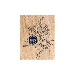 Tampon bois TAPIS DE FLEURS