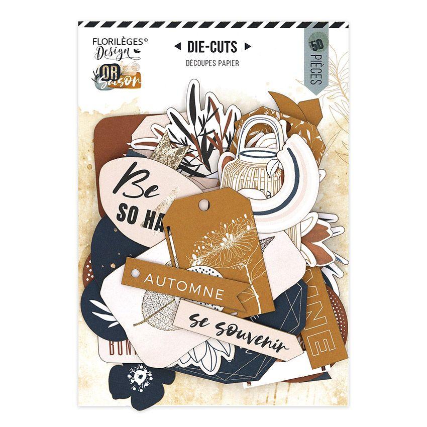 Die cuts imprimé OR SAISON par Florilèges Design. Scrapbooking et loisirs créatifs. Livraison rapide et cadeau dans chaque co...