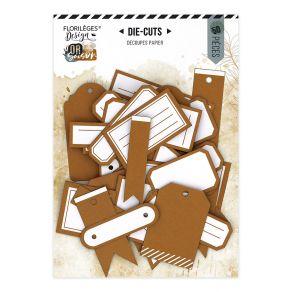 Etiquettes N°19 AMBRE par Florilèges Design. Scrapbooking et loisirs créatifs. Livraison rapide et cadeau dans chaque commande.