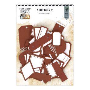 Etiquettes N°20 TERRACOTTA par Florilèges Design. Scrapbooking et loisirs créatifs. Livraison rapide et cadeau dans chaque co...