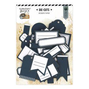 Etiquettes N°21 BLEU DENIM par Florilèges Design. Scrapbooking et loisirs créatifs. Livraison rapide et cadeau dans chaque co...