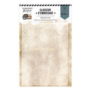Plaque d'embossage TAPIS DE FEUILLES