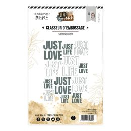 Plaque d'embossage LOVE AND LIFE
