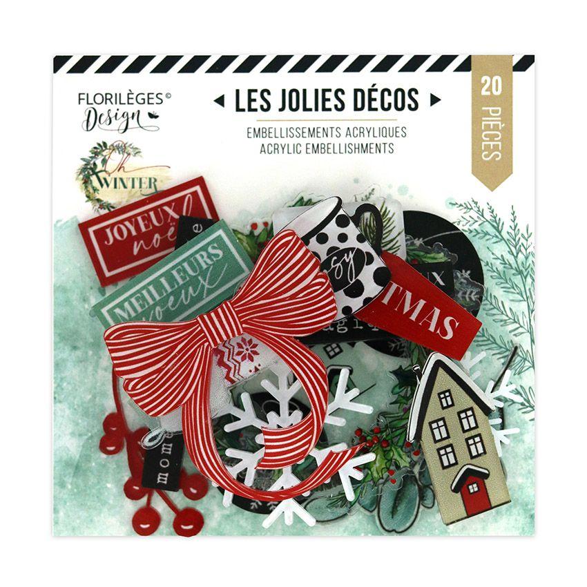 Décos acryliques OH WINTER par Florilèges Design. Scrapbooking et loisirs créatifs. Livraison rapide et cadeau dans chaque co...