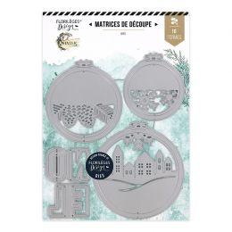 Outils de découpe CERCLES À BRODER D'HIVER par Florilèges Design. Scrapbooking et loisirs créatifs. Livraison rapide et cadea...