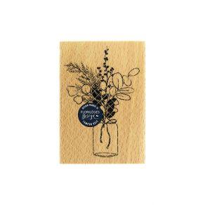 Tampon bois BOUQUET D'HIVER par Florilèges Design. Scrapbooking et loisirs créatifs. Livraison rapide et cadeau dans chaque c...