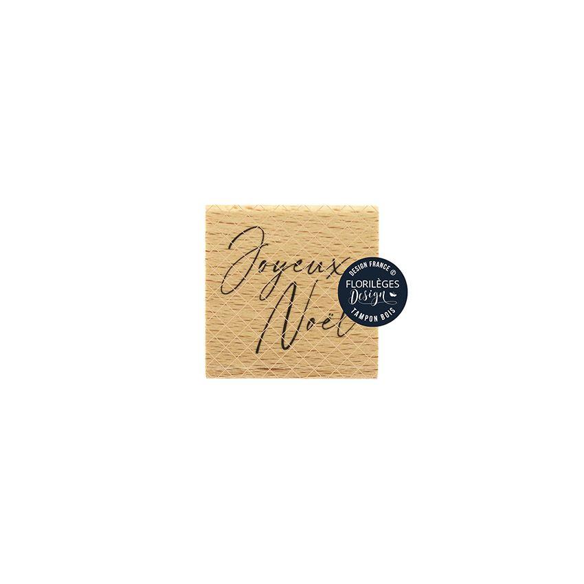 Tampon bois JOYEUX NOËL 3 par Florilèges Design. Scrapbooking et loisirs créatifs. Livraison rapide et cadeau dans chaque com...
