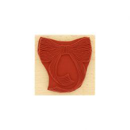 Tampon bois NŒUD RAYÉ par Florilèges Design. Scrapbooking et loisirs créatifs. Livraison rapide et cadeau dans chaque commande.