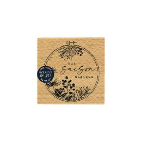 Tampon bois UNE SAISON MAGIQUE par Florilèges Design. Scrapbooking et loisirs créatifs. Livraison rapide et cadeau dans chaqu...