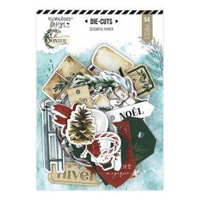 Die cuts imprimés OH WINTER par Florilèges Design. Scrapbooking et loisirs créatifs. Livraison rapide et cadeau dans chaque c...