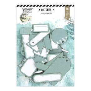 Étiquettes N°23 CÉLADON par Florilèges Design. Scrapbooking et loisirs créatifs. Livraison rapide et cadeau dans chaque comma...