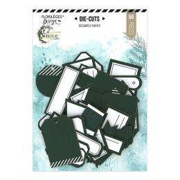 Étiquettes N°25 VERT FORÊT par Florilèges Design. Scrapbooking et loisirs créatifs. Livraison rapide et cadeau dans chaque co...