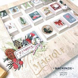 Die cuts imprimés Oh Winter CALENDRIER DE L'AVENT par Florilèges Design. Scrapbooking et loisirs créatifs. Livraison rapide e...