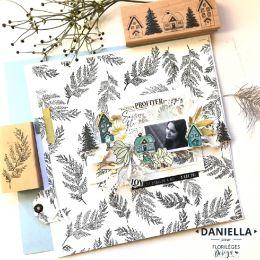 Tampon bois FEUILLAGE DANSANT par Florilèges Design. Scrapbooking et loisirs créatifs. Livraison rapide et cadeau dans chaque...