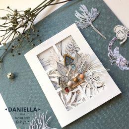 Tampon bois MAISONNETTES par Florilèges Design. Scrapbooking et loisirs créatifs. Livraison rapide et cadeau dans chaque comm...