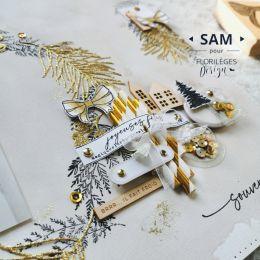 Tampon bois QUATRE NŒUDS par Florilèges Design. Scrapbooking et loisirs créatifs. Livraison rapide et cadeau dans chaque comm...