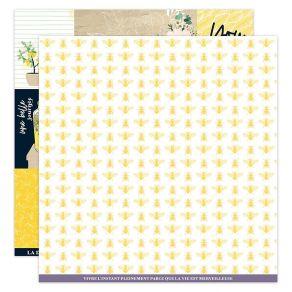 Papier imprimé DOLCE VITA 1 par Florilèges Design. Scrapbooking et loisirs créatifs. Livraison rapide et cadeau dans chaque c...