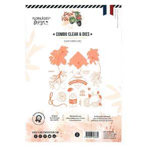 Combo Clear Dies CONCENTRÉ DE BONNE HUMEUR par Florilèges Design. Scrapbooking et loisirs créatifs. Livraison rapide et cadea...