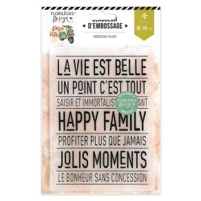 Plaque d'embossage HAPPY FAMILY