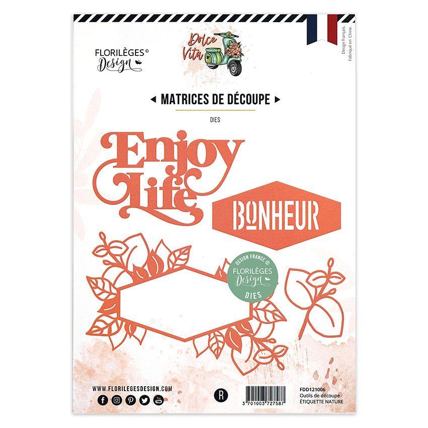 Outils de découpe ÉTIQUETTE NATURE par Florilèges Design. Scrapbooking et loisirs créatifs. Livraison rapide et cadeau dans c...