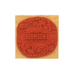 Tampon bois LA BELLE VIE par Florilèges Design. Scrapbooking et loisirs créatifs. Livraison rapide et cadeau dans chaque comm...