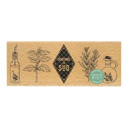 Tampon bois LE SUD par Florilèges Design. Scrapbooking et loisirs créatifs. Livraison rapide et cadeau dans chaque commande.