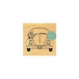 Tampon bois ON THE ROAD par Florilèges Design. Scrapbooking et loisirs créatifs. Livraison rapide et cadeau dans chaque comma...