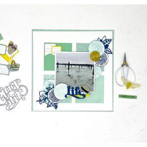 Tampon bois TRANCHE DE CITRON par Florilèges Design. Scrapbooking et loisirs créatifs. Livraison rapide et cadeau dans chaque...