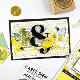 Papier imprimé DOLCE VITA 2 par Florilèges Design. Scrapbooking et loisirs créatifs. Livraison rapide et cadeau dans chaque c...